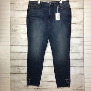GOOD AMERICAN Good Legs Star Eyelet Jeans 24 Plus